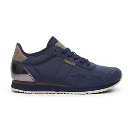 Woden Nora II - Leather & Canvas Trainer
