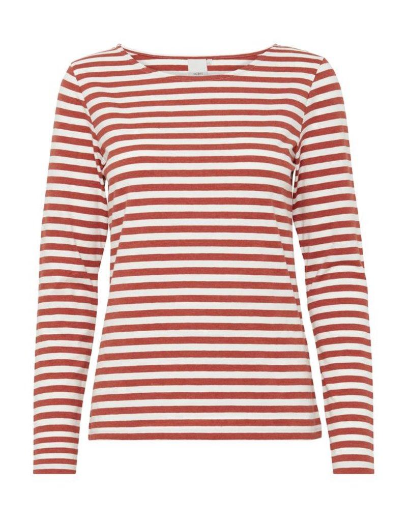 ICHI ICHI - Jia Long sleeve Stripe T shirt