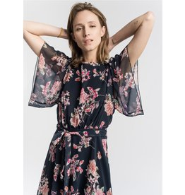 La Fee Maraboutee Navy Floral Print Dress