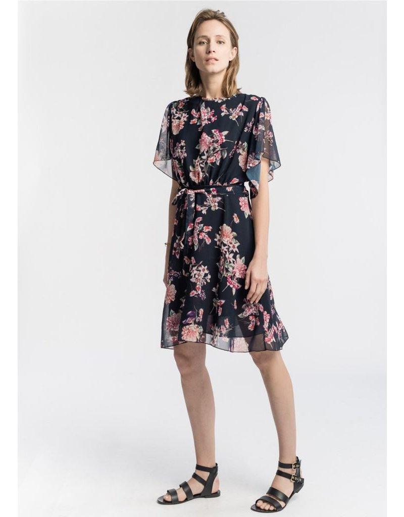 La Fee Maraboutee La Fee Maraboutee - Navy Floral Print Dress