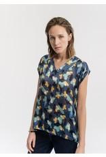 La Fee Maraboutee La Fee Maraboutee - 100% Silk Print Tunic Blouse