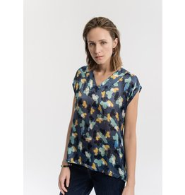 La Fee Maraboutee 100% Silk Print Tunic Blouse