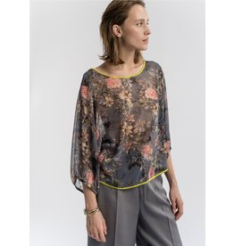 La Fee Maraboutee Floral Pattern Blouse
