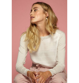 10 Feet Fine Knitted Pullover with Satin front