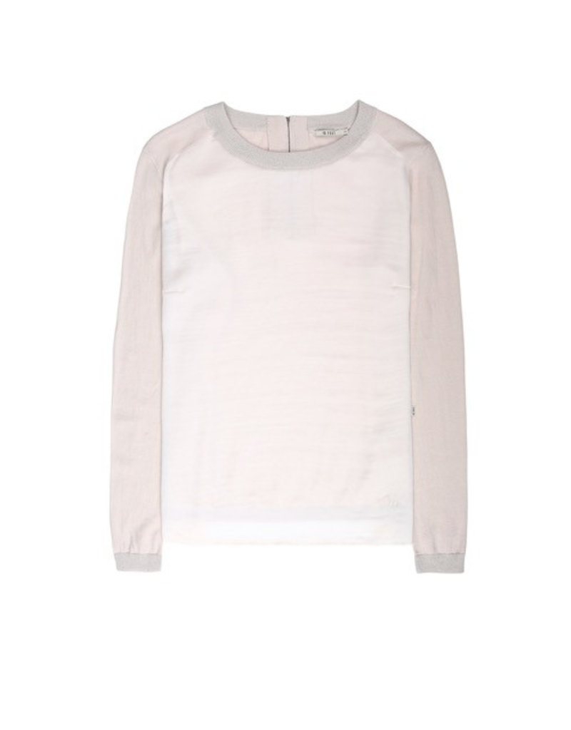 10 Feet 10 Feet - Fine Knitted Pullover with Satin front