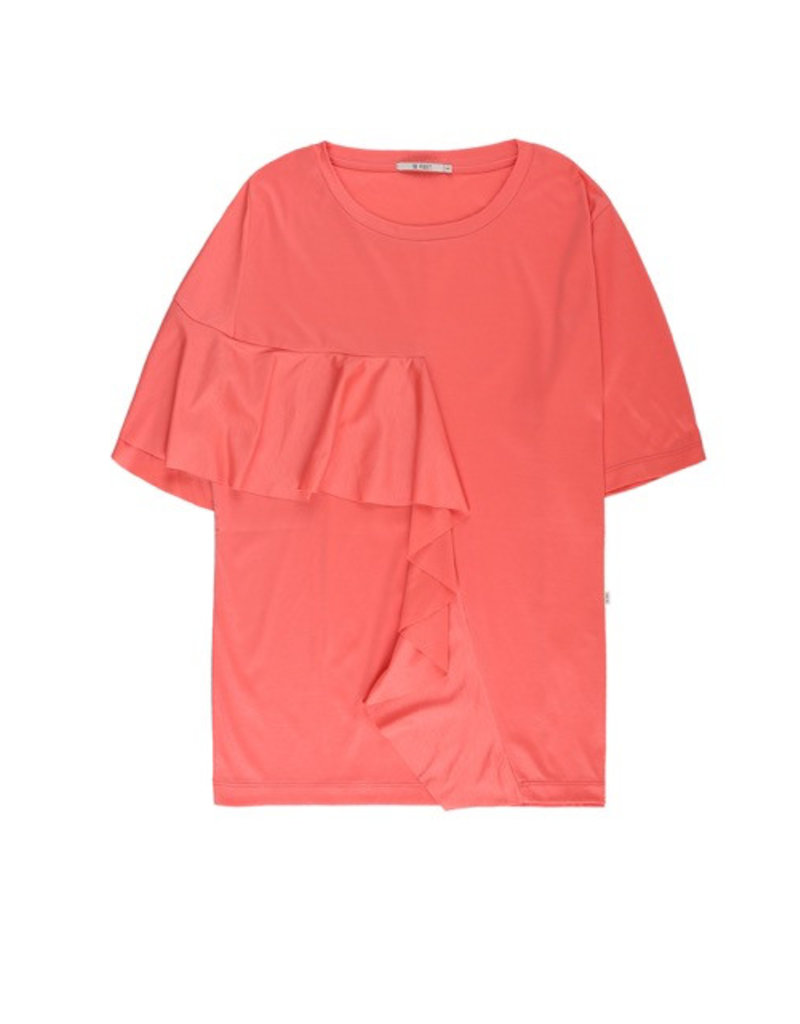 10 Feet 10 Feet - Constructed T Shirt with ruffle detail