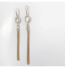 Bcharmd Sofia White Quartz Earrings