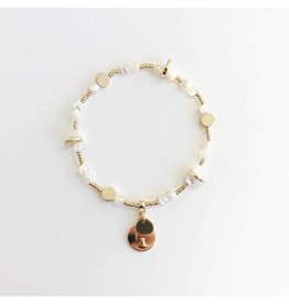 Bcharmd Rose White Seashell Bracelet