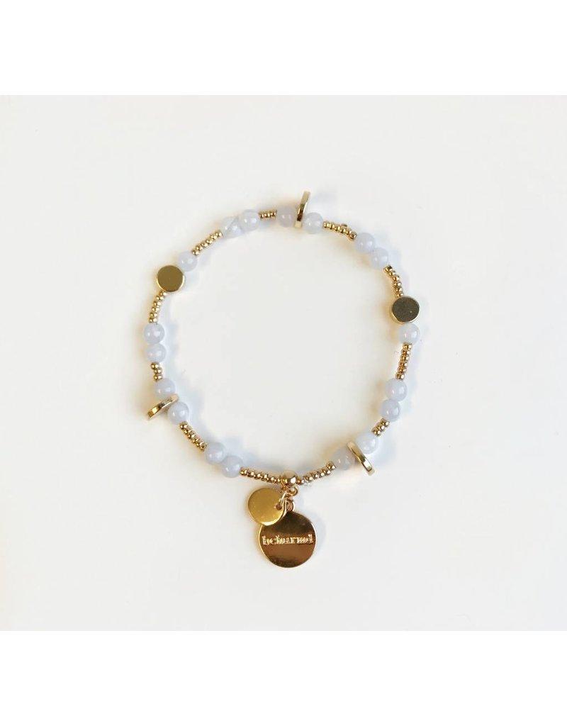 Bcharmd Rose Blue Lace Agate Bracelet