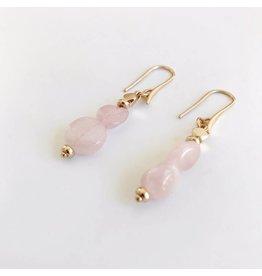 Bcharmd Gabriella - Rose Quartz Earrings