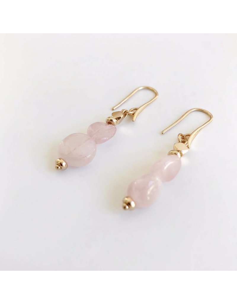 Bcharmd Gabriella Rose Quartz Earrings