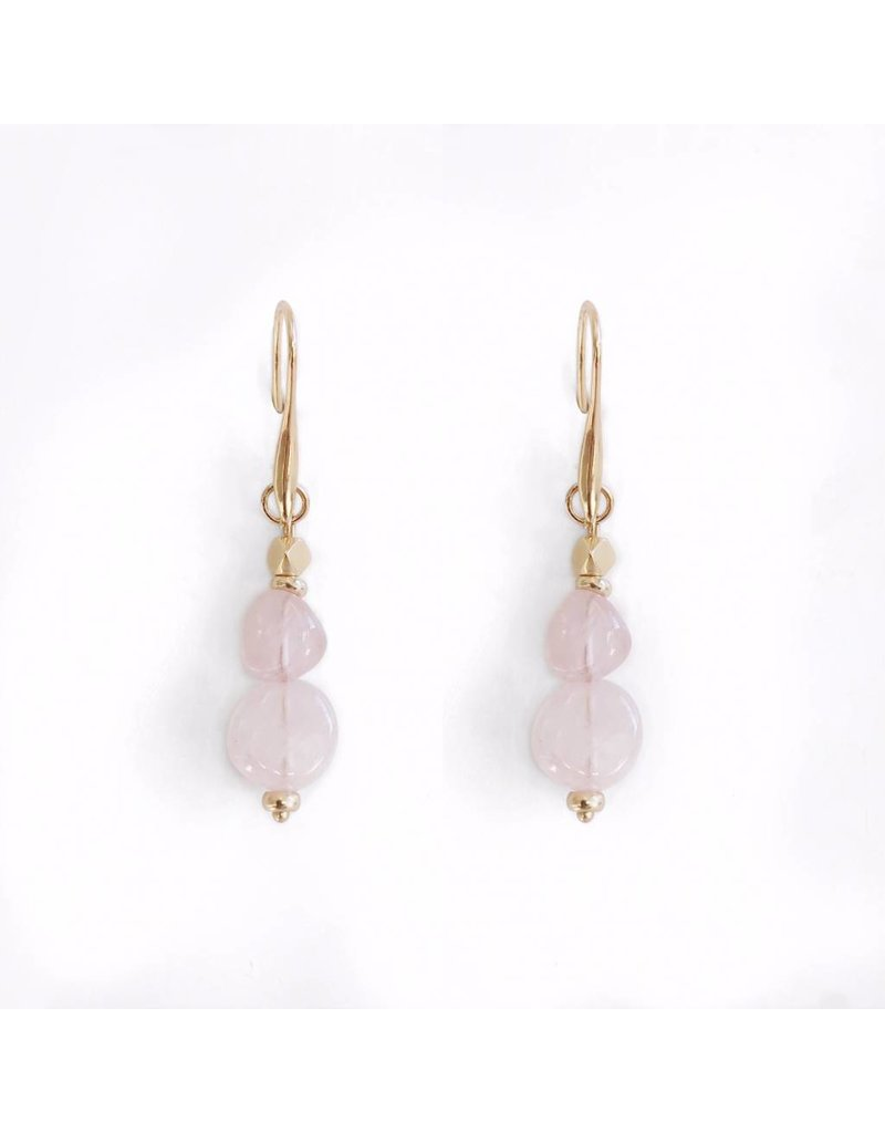 Bcharmd Gabriella - Rose Quartz Earrings