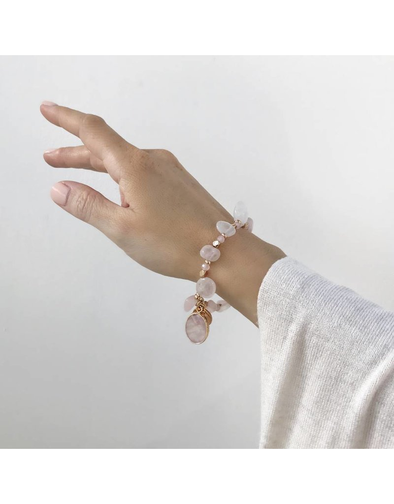 Bcharmd Russell Rose Quartz Bracelet - One Size fits All