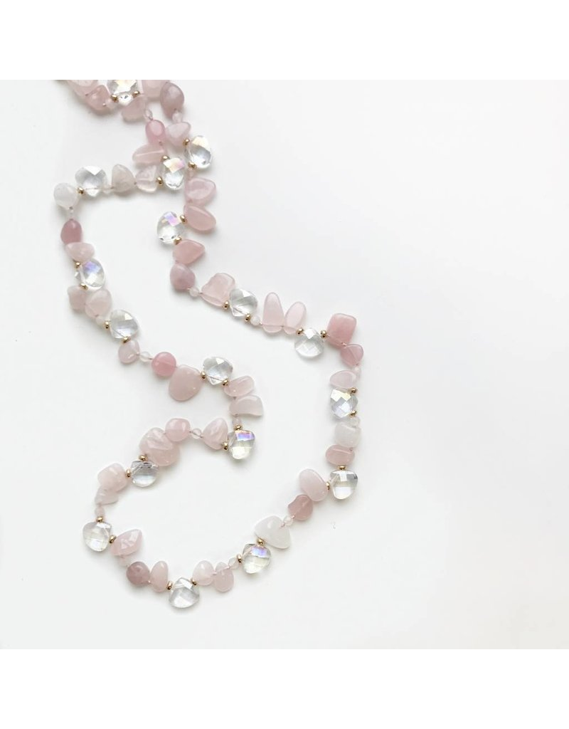 Bcharmd Frances Rose Quartz Necklace (Twistable)