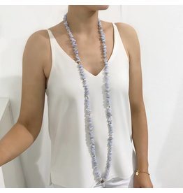 Bcharmd Zara Blue Lace Agate Necklace (Twistable)