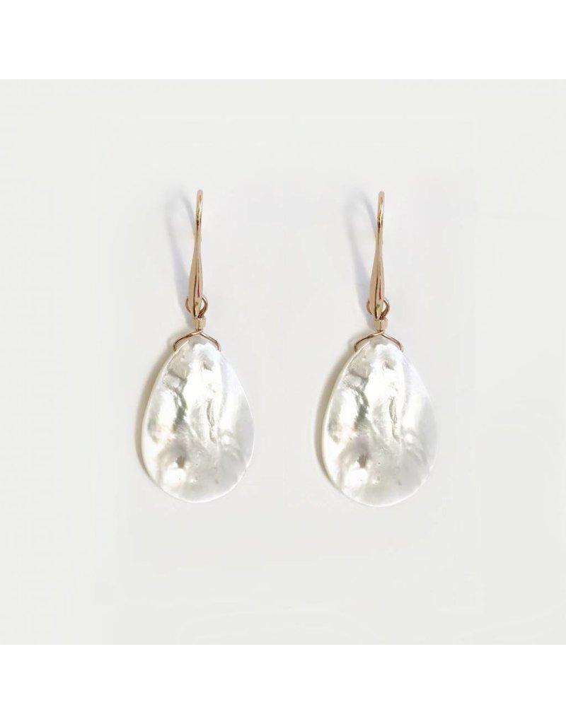 Bcharmd Marisol White Seashell Earrings