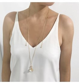 Bcharmd Novak White Abalone Necklace