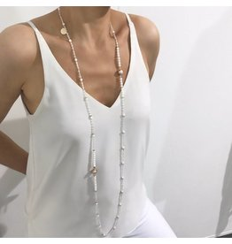 Bcharmd Thyra Crystal White Necklace (Twistable)