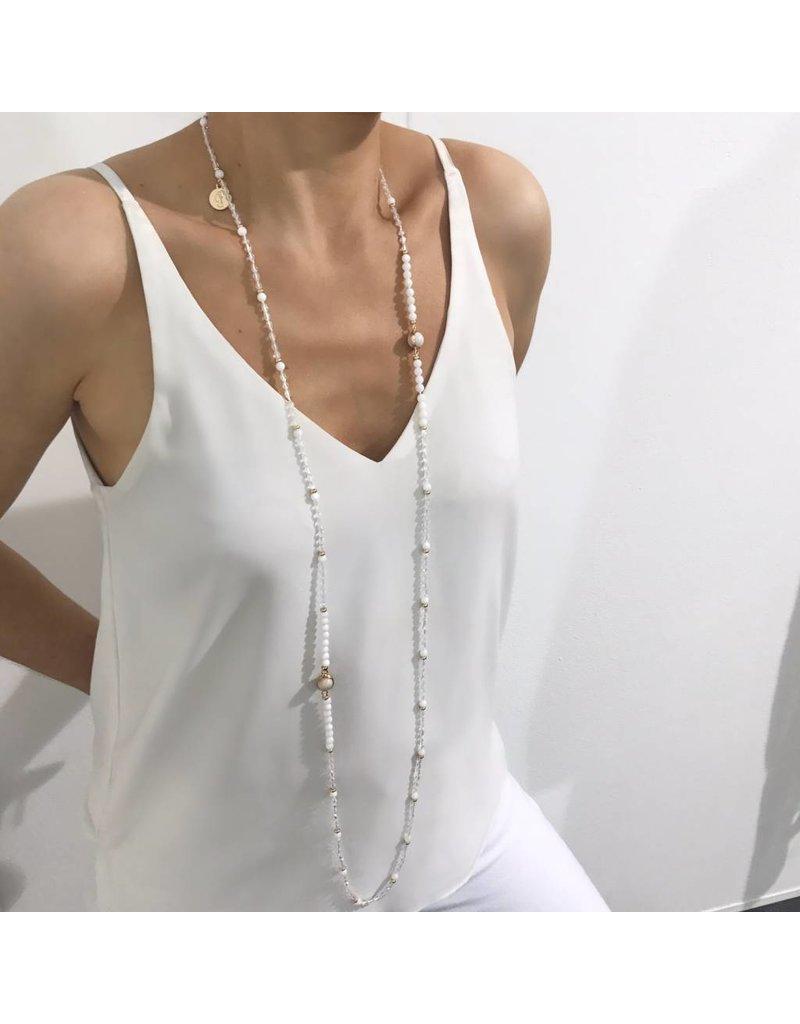 Bcharmd Thyra Crystal White Necklace (Twistable)
