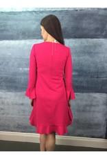 Peruzzi Flared Fuchsia Dress