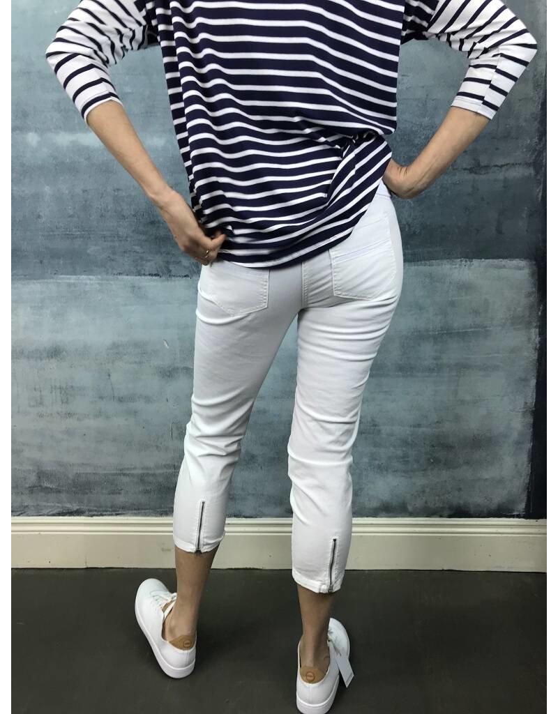 Peruzzi White Crop Jeans