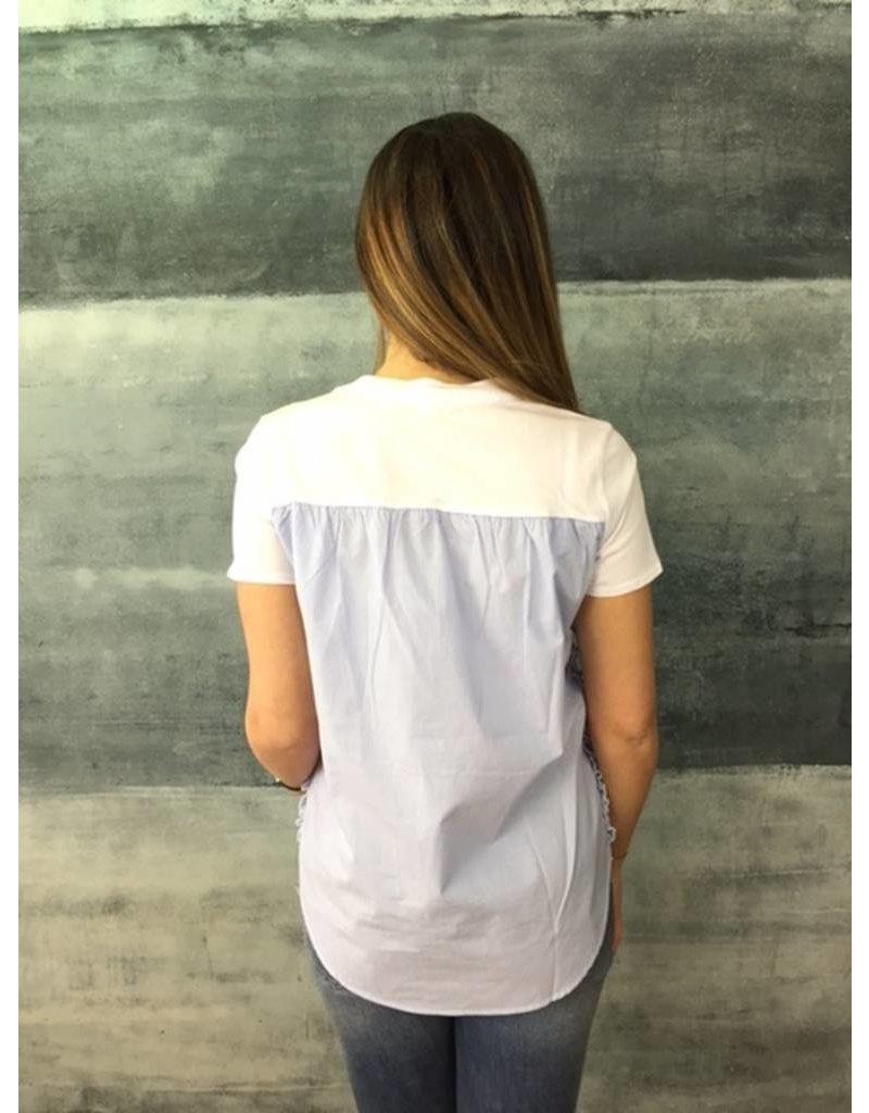 La Fee Maraboutee La Fee Maraboutee - T-Shirt with stripe cotton back