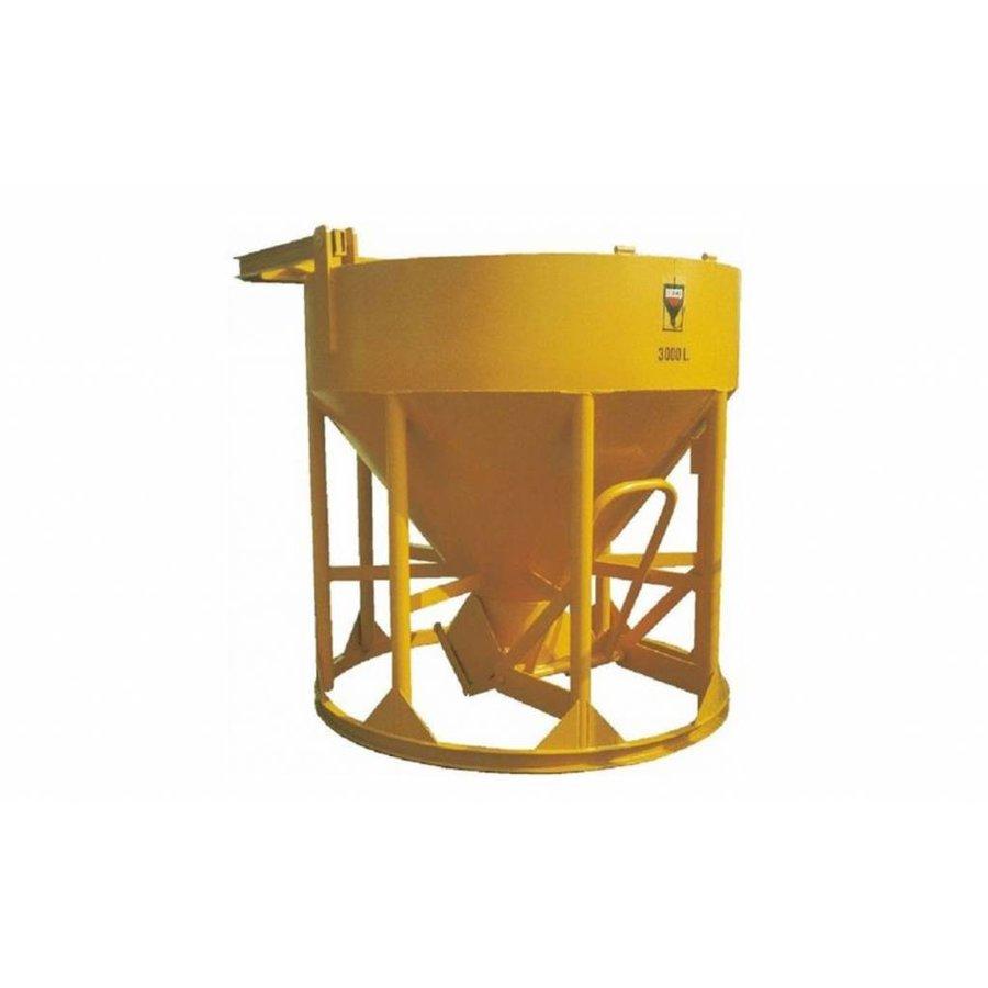 Cuve à béton Droit / évacuation en dessous 2500L