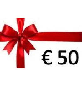 Overige merken Cadeaubon € 50