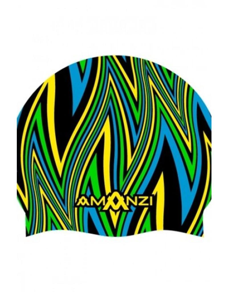 Amanzi Amanzi Badmuts Ignite Blue Swim Cap