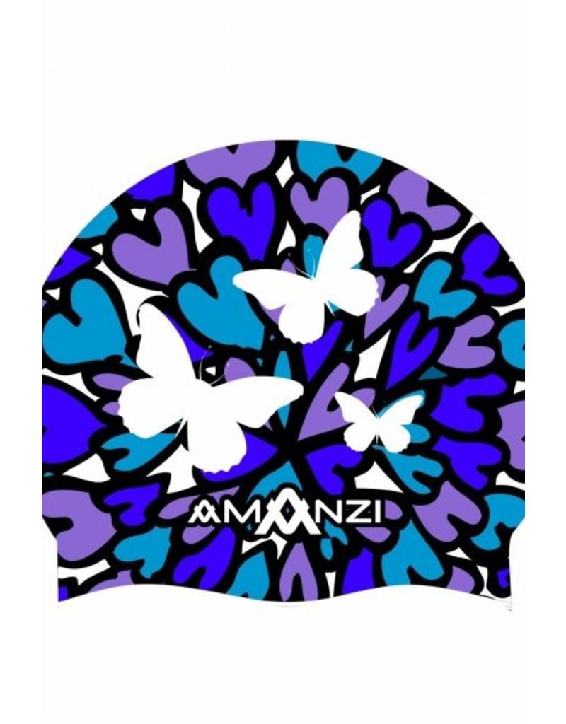 Amanzi Amanzi Badmuts Butterfly Kisses Swim Cap