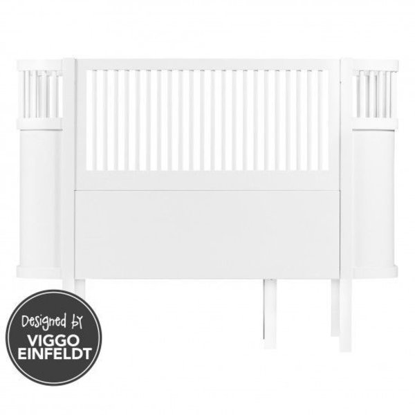 Sebra bed white wood