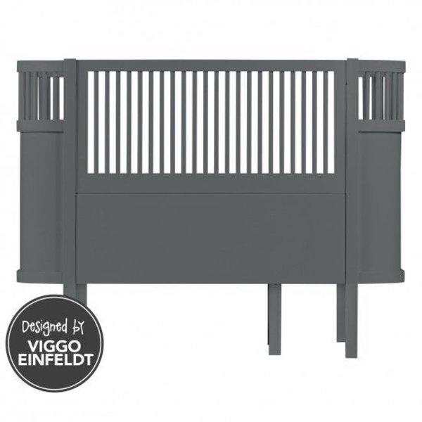Sebra bed dark grey wood