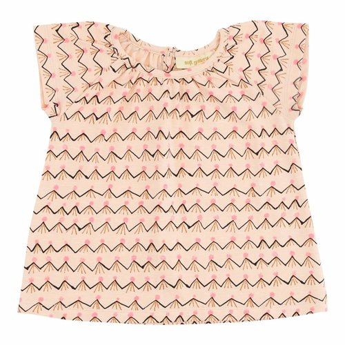 Soft Gallery Baby Olivia Top Scallop Shell AOP Volcano t-shirt pink