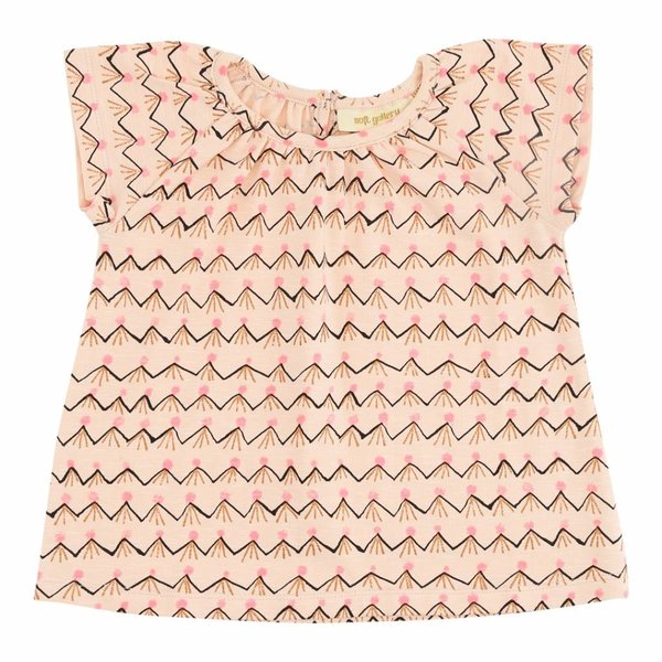 Baby Olivia Top Scallop Shell AOP Volcano t-shirt pink