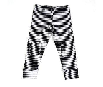 MINGO Legging B/W Stripes zwart wit