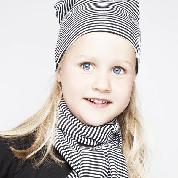 Scarf B/W Stripes black white