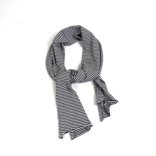 MINGO Scarf B/W Stripes black white