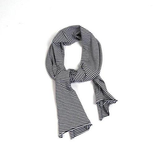 MINGO Sjaal B/W Stripes zwart wit