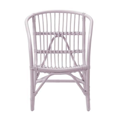 Bloomingville Mini Charlotte rotan stoel roze