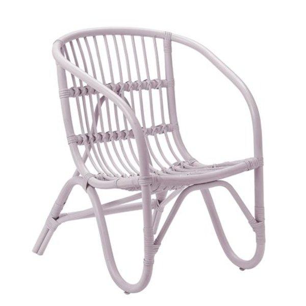 Charlotte rattan chair pink