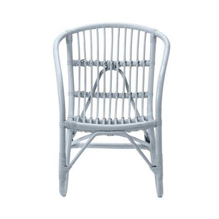Bloomingville Mini Pepper rattan chair blue