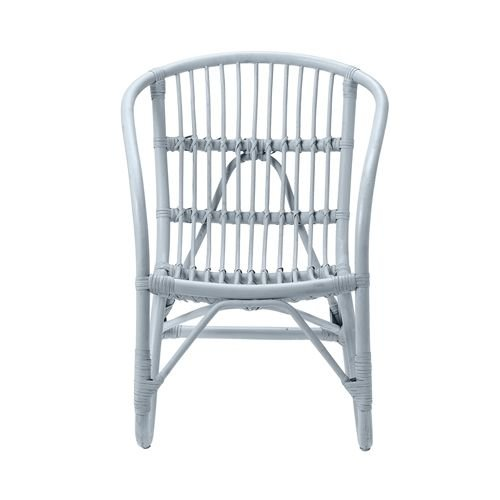 Bloomingville Mini Pepper rattan chair blue