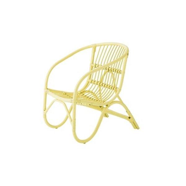 Salt rattan chair yellow