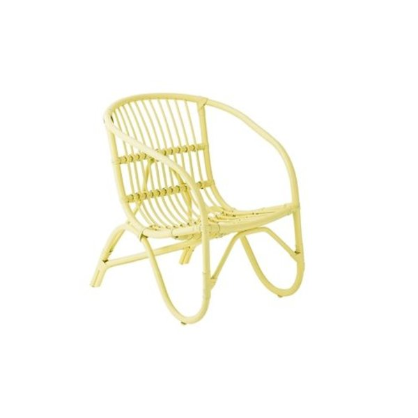 Salt rotan stoel geel