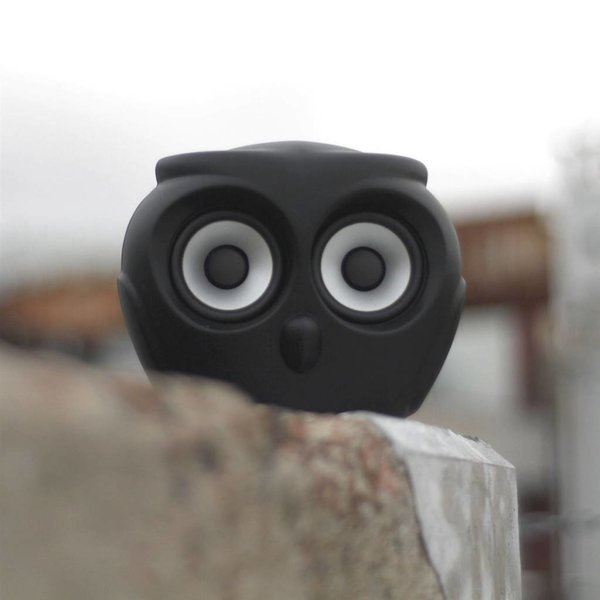 aOwl bluetooth speaker black