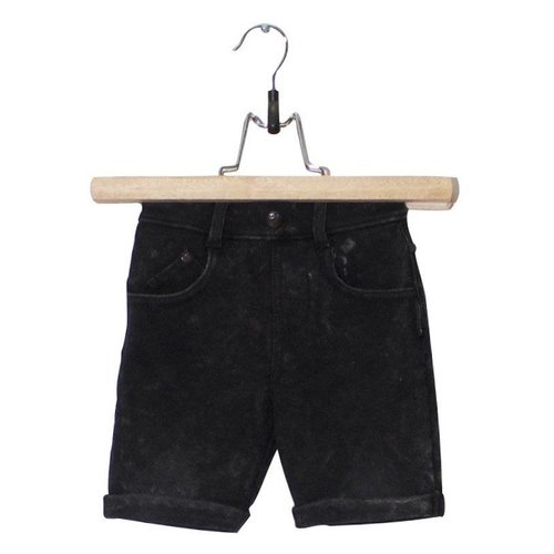 Lucky No.7 Black Jog Denim Short