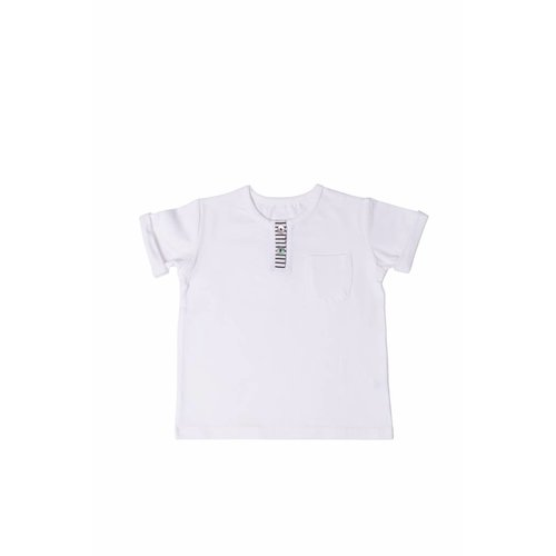 House of Jamie Button Tee snow white