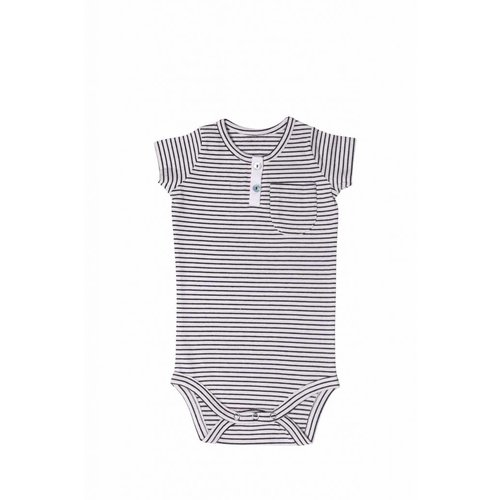 House of Jamie Button Bodysuit little stripes