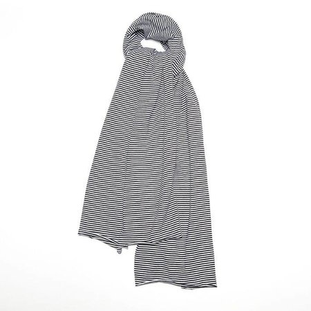 MINGO Scarf XL B/W Stripes black white