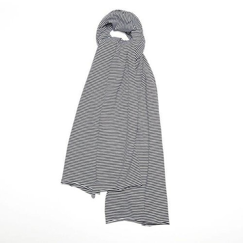 MINGO Sjaal XL B/W Stripes zwart wit sjaal